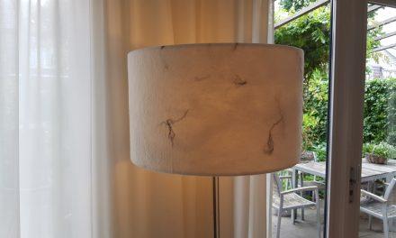 In opdracht: bijzondere lampenkappen van vilt