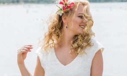 Bruidsjurk met vilt